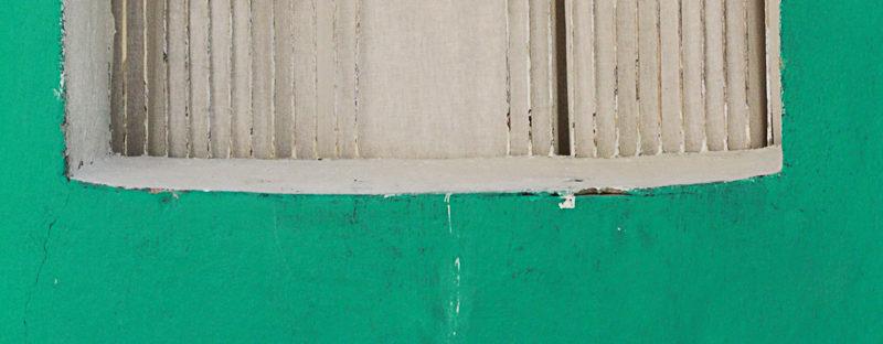 green door window